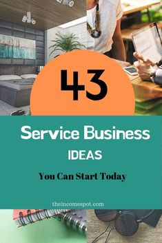 43 Service Business Ideas That You Can Start Today - 43 Service business ideas you can start with a low startup cost - Own Business Ideas, Starting Your Own Business, Home Based Business, Start Up Business, Service Business Ideas, Online Business, Business Company, Business Planning, Business Education