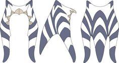 Ahsoka headdress montrals and lekku Togruta speicy Starwars