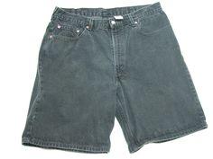 Levis 550 Shorts Mens Black Charcoal Sz 38 Relaxed Fit ( Measure 38X9.5 ) #Levis #CasualShorts