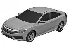 Novo Civic aparece em desenhos de patente - Carros - iG