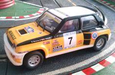 El Renault 5 Turbo de Scalextric con la decoración que más me gusta. Un modelo superdivertido de conducir, naturalmente sin imán.