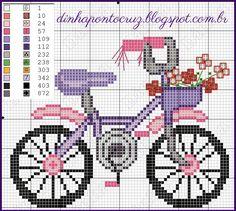Dinha Ponto Cruz: Bike em ponto cruz …