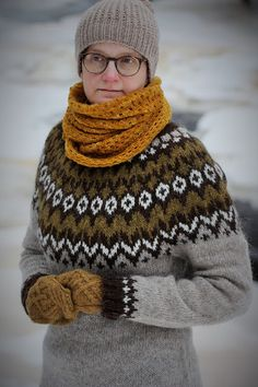 Body and sleeves are worked in the round from lower edge to underarms, then joined to work yoke in the round. Round begins at left side of body. On yoke, round begins Fair Isle Knitting Patterns, Knit Patterns, Icelandic Sweaters, Knitwear Fashion, Sweater Design, Cute Sweaters, Knit Or Crochet, Knitting Yarn, Pullover