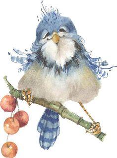 Happy Blue Bird by Carolyn Shores Wright