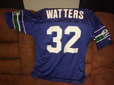 Rare VTG 1999 NFL Seattle Seahawks Ricky Watters 32 Jersey Mens 48 XL   Champion  SeattleSeahawks e1760eae7