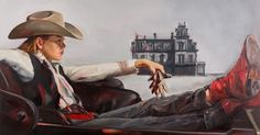 An artist replaced the men in classic Westerns with women — Artist Felice House wanted to spark a conversation about how we define a hero. West Art, Wise Women, Watercolor Drawing, Art For Art Sake, Women In History, Cowboys, Westerns, Art Photography, Artsy