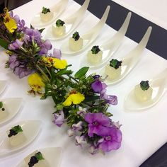 Champagne & Caviar Canapes #wedding #canapes