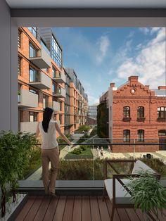 Będzie klimatycznie, postindustrialnie i zielono. #koneser #loft #softloft #home #visualization #revitalisation #Warszawa #Koneser #Praga