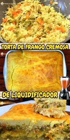 TORTA DE FRANGO CREMOSA DE LIQUIDIFICADOR #pie #chicken #cream #tortadefrango #tortacremosa #torta #cozinha #receita #receitafacil #receitas #comida #food #manualdacozinha #aguanaboca #alexgranig