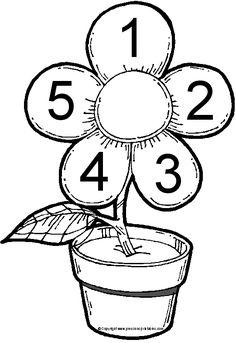 www.preschoolprintables.com / File Folder Game/ Numbers In Bloom