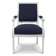Jonathan Adler Navy Louis Arm Chair in Side Chairs