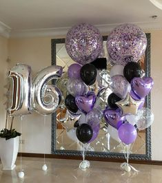 New birthday balloons for him sweets 17 ideas Birthday Parties New birthday balloons for him sweets Sweet 16 Party Decorations, 16th Birthday Decorations, Sweet 16 Themes, Balloon Decorations, Graduation Decorations, 16 Balloons, Birthday Balloons, Birthday Parties, Purple Balloons