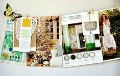 love the colors of this inspiration board by tara anderson | via crate paper blog