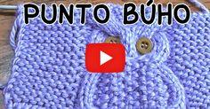 Aprende a tejer con dos agujas: Punto Búho en video