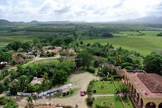 View from slave trader Manaca Iznaga's plantation tower. Valle de los Ingenios, Cuba