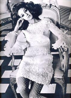 Marisa Berenson in Valentino, photo by Henry Clarke for Vogue courtesy of Rizzoli. (Marisa Berenson is the granddaughter of designer Elsa Schiaparelli.