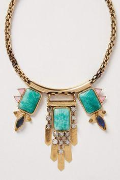Stone Snake Bib Necklace
