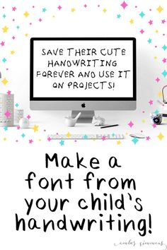 This simple and easy tutorial for how to make your child's handwriting into a font will show you two ways to create a font, including Procreate, and have you typing in your own fonts in no time. #diy #handwritten #font #children #memento #keepsake #kidsactivities
