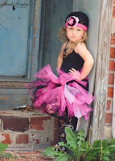 Punk PrincessTutu Hot Pink Light Pink Black  by SparkleberryCrafts, $50.00