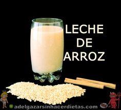 CON VIDEO.  Receta saludable de LECHE DE ARROZ INTEGRAL baja en calorías y colesterol, apta para diabéticos, veganos, celíacos e intolerantes a la lactosa. LECHES VEGETALES. COCINA FÁCIL Y SANA.