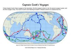 Captain Cook's Voyages These voyages inspired the scientific and knowledge-gathering spirit of ships like the Beagle Explorers Unit, Captain James Cook, Visit New Zealand, British Colonial Style, Aboriginal People, Story Of The World, Australian Curriculum, Charles Darwin, First Contact
