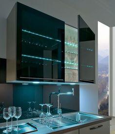 дневник дизайнера: Как сделать стеклянные полочки внутри шкафа подсве...