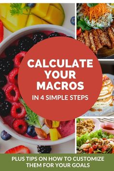 Looking to lose weight on the macro diet? Learn how to calculate your macros in 4 easy steps. Customize your macros based on where you are now and where you want to go. Macro diet. Macros. calculate macros. Macro diet for beginners. Weight loss. Muscle gain. #macros #diet #weightloss Meal Prep For Beginners, Diets For Beginners, Clean Simple Eats, Macro Meal Plan, Keto Carbs, Macros Diet, Keto Calculator, Macro Meals, Proper Nutrition