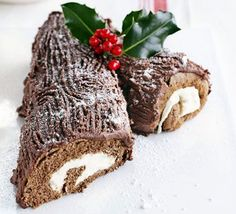 Yummy Chocolate Log with Mint filling. Yum. This sounds like a must for Christmas!