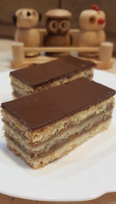 Zserbó – Ez nem semmi Hungarian Desserts, Hungarian Recipes, Torte Cake, No Bake Cookies, Something Sweet, Winter Food, Nutella, Bakery, Food Porn