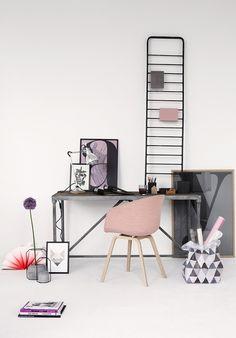 Peige Home Office Inspiration, Decoration Inspiration, Workspace Inspiration, Interior Inspiration, Motivation Inspiration, Design Inspiration, Interior Pastel, Deco Pastel, Pastel Pink