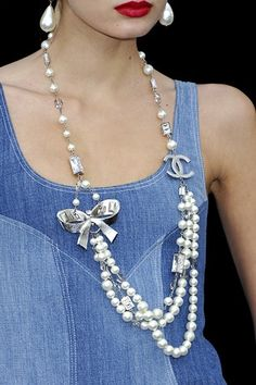 I love denim and pearls