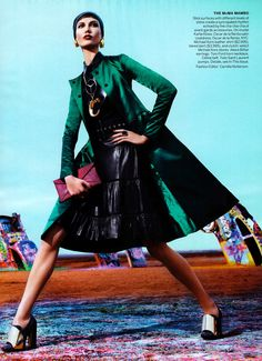 Model: Karlie Kloss | Photography: Mario Sorrenti | Styling: Camilla Nickerson | Vogue, March 2012