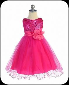 Pink flower girl dress pink tutu dress bright by designsbymarlo fuchsia pink flower girls dress w sequin bodice double ruffled hem isabellasfate mightylinksfo Gallery