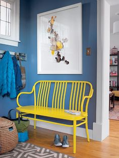 With a showstopper like this bench, you have our permission to go all in with a revved-up color.