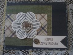 Card 4  Used the Cricut Cartridge for CTMH flower and then stamped on it with CTMH stamps