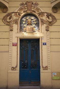 Art Nouveau doorway by MisterPeter!, via Flickr Prague