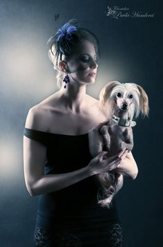 A Lady with her dog