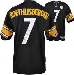 Ben Roethlisberger Pittsburgh Steelers Autographed Reebok Black Jersey $399.96 #nfl #jersey #shop