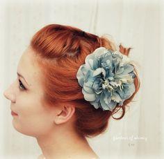 Blue danube - a pretty pale blue hair clip. $32,00, via Etsy.