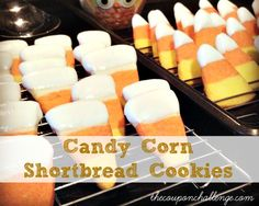 Candy Corn Cookies Recipe I Candy Corn Shortbread Cookies
