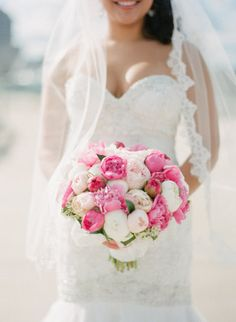 shades of pink peonies #bouquets |  Photography by meetthemccartneys.com |   Read more - http://www.stylemepretty.com/2013/07/18/milwaukee-wedding-from-the-mccartneys-photography/