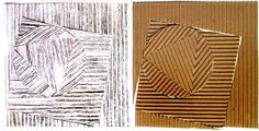 Art Lesson Plan: Corrugated Cardboard Relief Prints