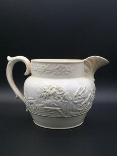 Rogers moulded cremeware jug. Early 1825 antique jug.