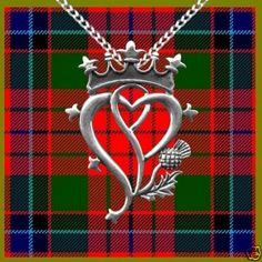 Celtic:  #Scottish Luckenbooth Hearts and Thistle Sterling Silver Pendant.