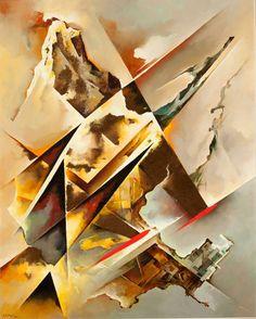 Futuristic art, Tullio Crali, #CraliKisyovaLazarinova Abstract Art Images, Abstract Geometric Art, Futurism Art, Retro Futurism, Italian Futurism, Fractal Art, Painting & Drawing, Modern Art, Art Photography