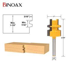 """Binoax Rail & Stile Router Bit Woodworking Cutting Tools-1/4"""" Shank"""