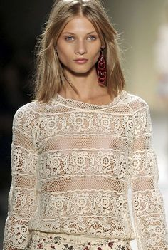 Anna Selezneva at Isabel Marant SS 09  love but really a tank and bra please!!!