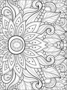 Adult Coloring Pages: Flowers 2-2