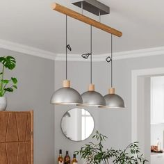By Rydéns Buckler lampa wisząca, 3-punktowa Argent Antique, Antique Silver, Pendant Lamp, Pendant Lighting, Direct Lighting, Vintage Stil, Hanging Lights, Wood And Metal, Floor Lamp
