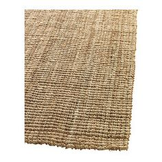 "This jute rug is fabulous.  Neutral, cheap, and very warm/nature/etc. TÅRNBY Rug, flatwoven - 5 ' 11 ""x8 ' 2 "" - IKEA"